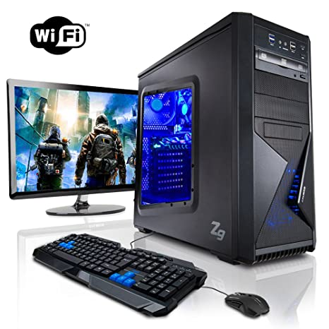 """Megaport Super Méga Pack - Unité centrale pc gamer complet 8-Core AMD FX-8320E • Ecran LED 22"""" • Claviers de jeu et Souris • GeForce GTX960 • 16Go • 1To • Windows 10 ordinateur de bureau pc gaming"""