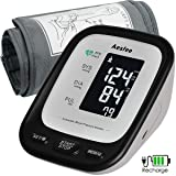 Arm Blood Pressure Monitor with Large Cuff, Accurate Automatic Upper Arm BP Machine for Home Use, Digital Blood Pressure & Heart Rate Pulse Meter USB Rechargeable with Backlit LCD Display (Tamaño: large)