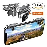 Mobile Game Controller, YOUNI Cell Phone Game Triggers with Foldable Tighten Pad- Sensitive Shoot and Aim Buttons Shooter Handgrip for PUBG - 1Pair(L1R1) (Silver) (Color: Silver 2nd Gen)