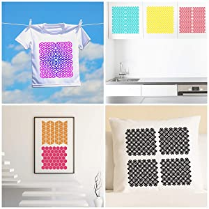 6 Set Geometric Stencils 7 x 7 Inch - Art Painting Templates for Scrapbooking Drawing Tracing DIY Furniture Wall Floor Decor . (Color: 7*7 Inch Geometric Stencils, Tamaño: 7 Geometric Stencils A)