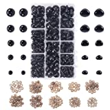 PH PandaHall 218 Pieces Plastic Safety Eyes Craft Eyes with 115 Pieces Safety Noses and 333 Pieces Washers for Doll, Puppet, Plush Animal Making (Color: Black Safety Eyes and Noses (333pcs))
