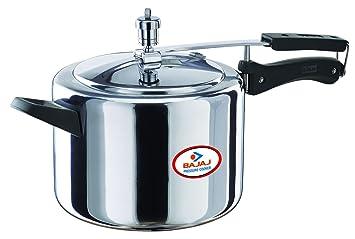 Bajaj Majesty Pressure Cooker with Inner Lid, 5 Litres