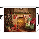 LB 10x8ft Christmas Photography Backdrop Fireplace Xmas Tree Indoor Photo Background Studio Props Customized SDX452 (Color: SDX452, Tamaño: 10x8ft)