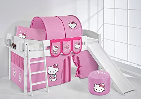 Lilo Kids Ida 4105KWR Hello Kitty Cot Wooden Hello Kittty Pink, 208x 220x 113cm