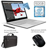 Microsoft Surface Book (512GB, 16GB RAM, Intel Core i7) + 15.6-Inch Microsoft Surface Carrying Case + 2.4G Wireless Portable Mobile Optical Mouse with USB Receiver + DigitalAndMore Cloth Bundle