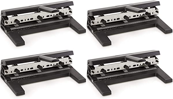 Swingline Hole Punch, Heavy Duty Hole Puncher, Adjustable, 2-7 Holes, 40 Sheet Punch Capacity, Black (74440) Pack of 4 (Tamaño: 4 Pack)