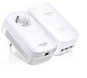 TP-LINK TL-WPA8730 KIT AV1200 WiFi AC 1750Mbps Pack de 2 Adaptateurs CPL (450Mbps en 2.4GHz et 1300Mbps en 5GHz, 3 Ports Gigabit)