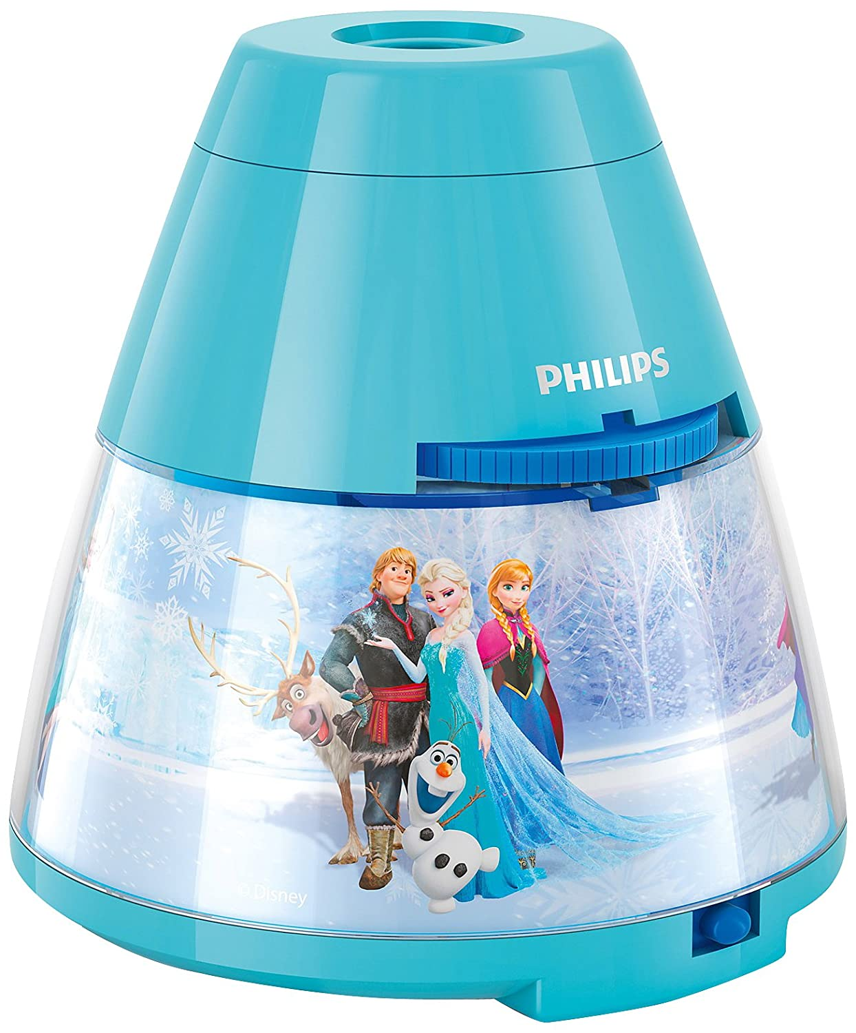 disney frozen bedside table lamp children night light projector philips bedroom ebay. Black Bedroom Furniture Sets. Home Design Ideas