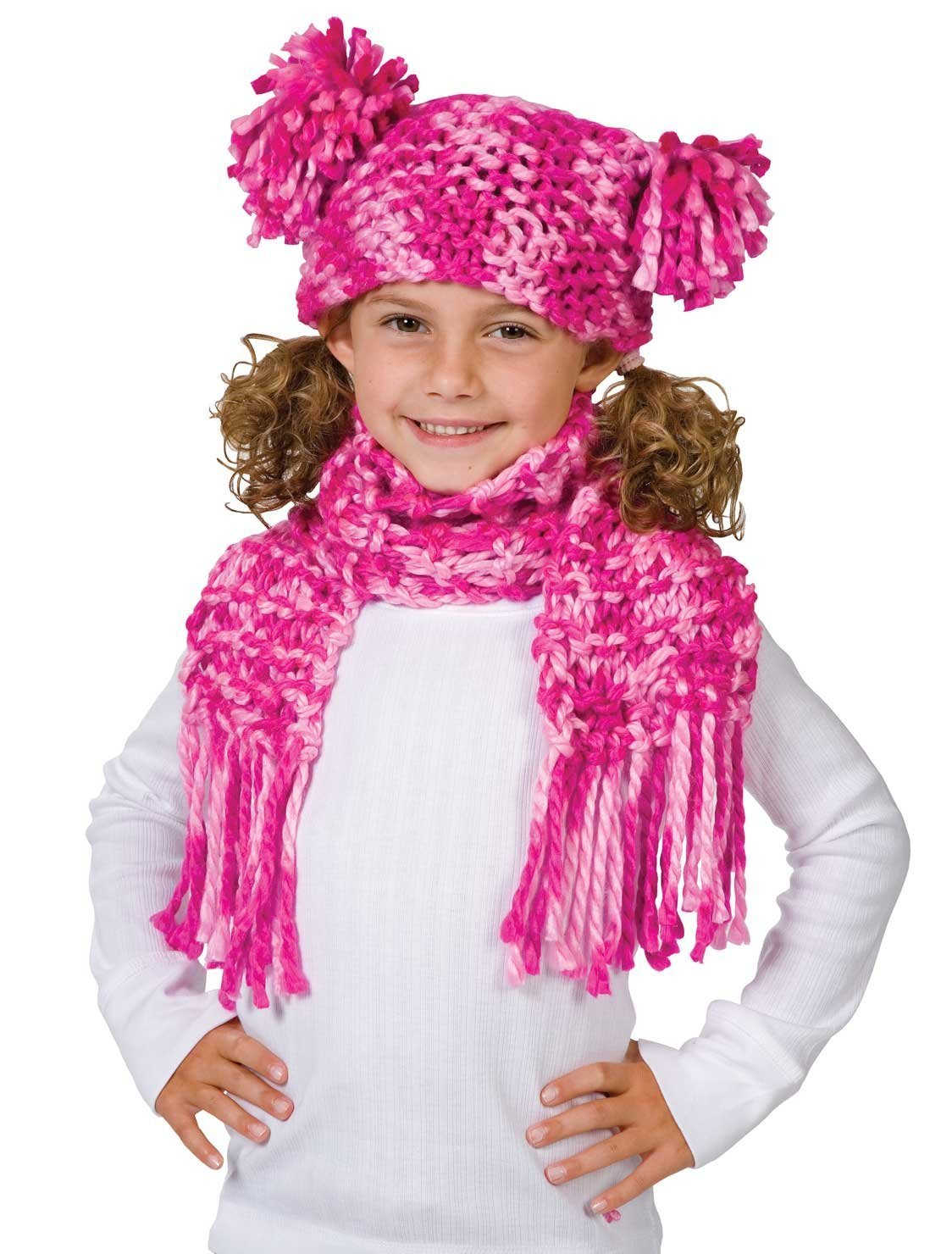 Craft Chunky & Funky Scarf Pink