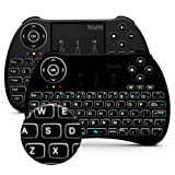 Mafiti H9+ Mini Keyboard, 2.4GHz Mini Wireless keyboard with Touchpad, LED Backlit, Rechargable Li-ion Battery for Smart TV,PC,Windows