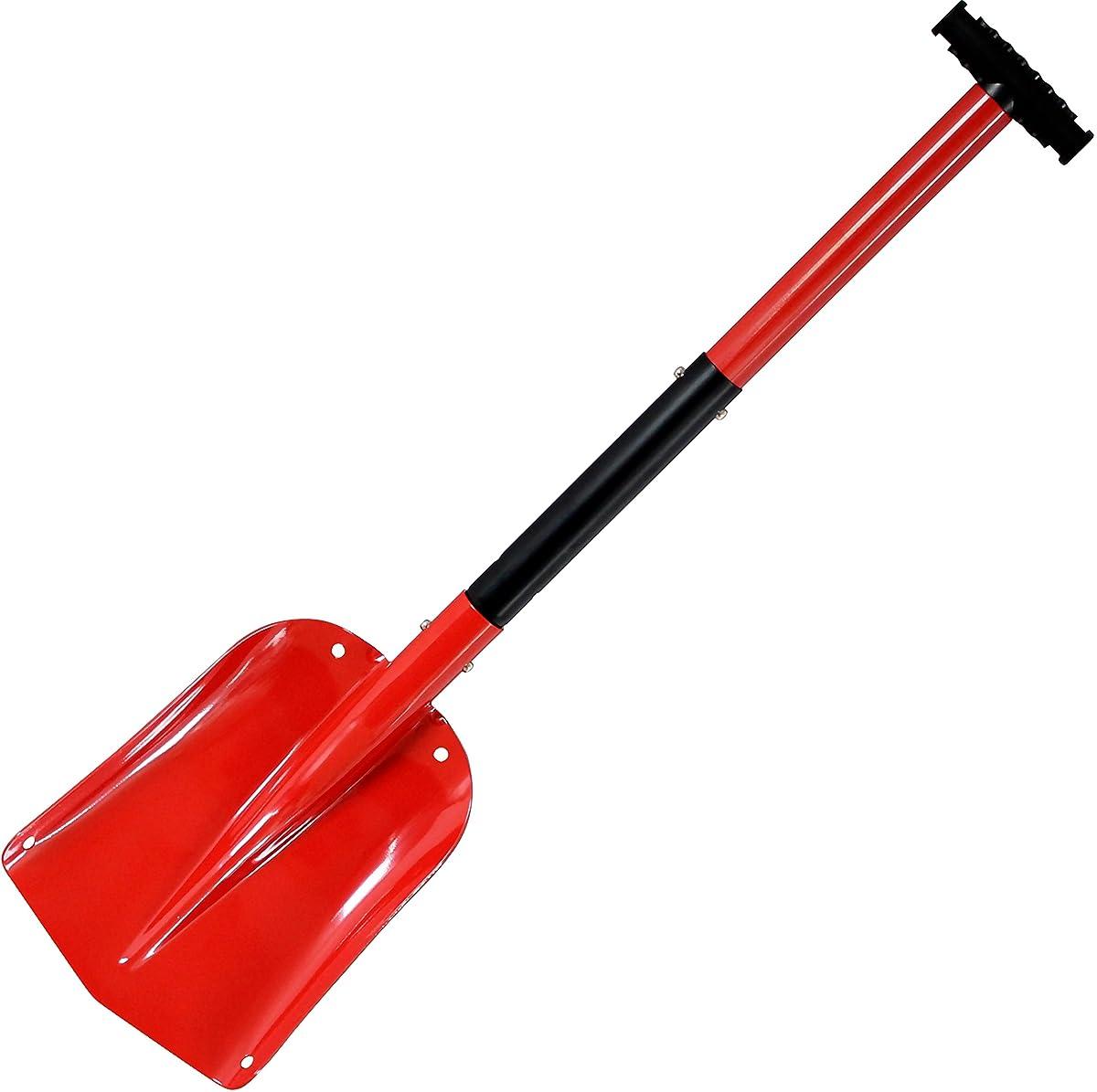Cartman Portable Aluminium Sport Utility Shovel, Snow Shovel (Red)