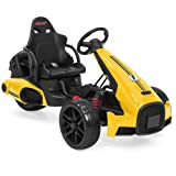 Best Choice Products 12V Kids Go-Kart Racer Ride-On Car w/Push-to-Start, Foot Pedal, 2 Speeds, Spring Suspension -Yellow (Color: Yellow)
