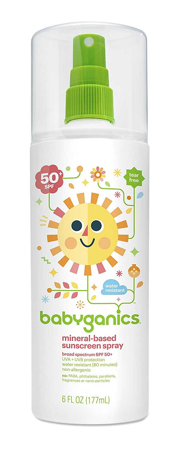 Babyganics Mineral-Based Sunscreen Spray, SPF 50, 6oz, Packaging May Vary babyganics 50ml 2016 10