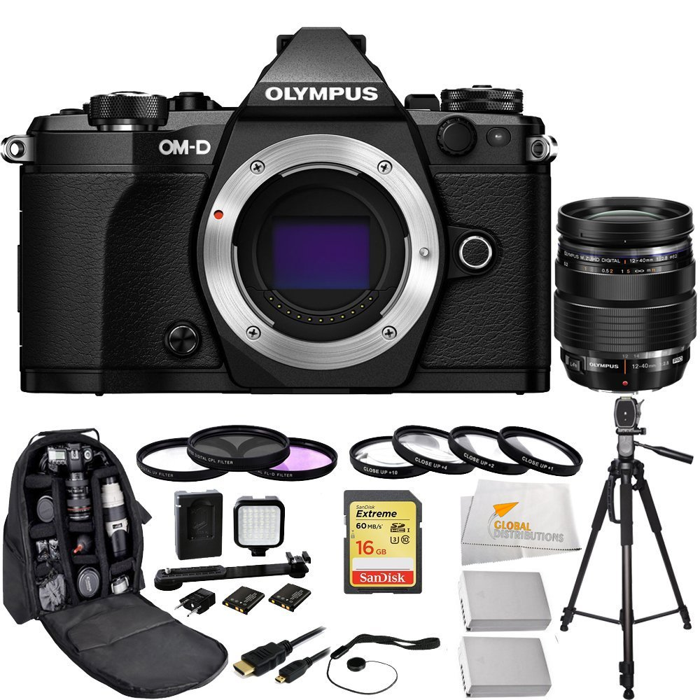 Olympus OM-D E-M5 Mark II (Black) + Olympus M Zuiko Digital ED 12-40mm f/2.8 Pro Interchangeable Lens + Sandisk 16GB Extreme SDHC Class 10 Memory Card (SDSDXN-016G-G46)  ...