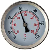 Fast Ferment Thermometer Stainless Steel Thermometer. Compatible with our 3 Gallon, 7.9 Gallon and 14 Gallon Conical Fermenters. FasterFerment Accessories (Stainless Steel Thermometer)