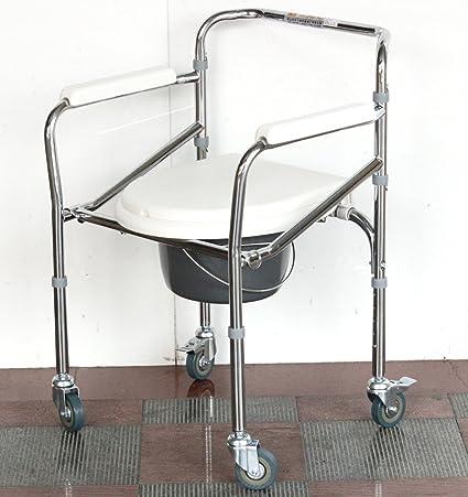Chevet gris Commode acier pliante chaises âgées enceinte femme chaise ameublement fauteuil roulant