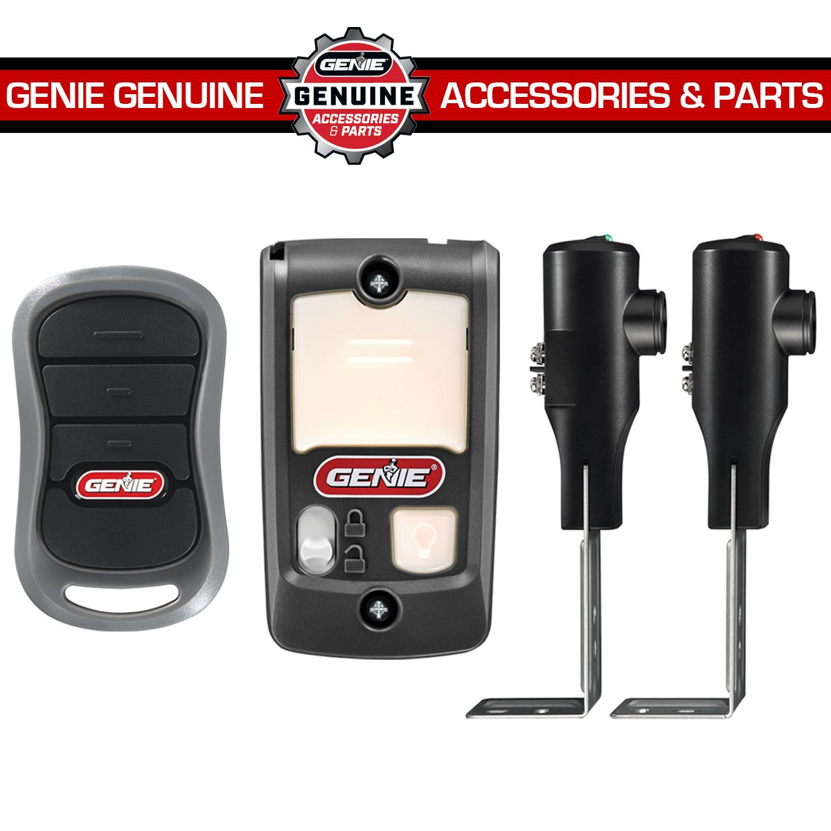 Genie PowerLift Garage Door Opener – ½ HP AC Screw Opener with 2 3-Button Pre-programmed Remotes, Multi-Function Wall Console and Safe-T-Beam Sensor System – Model 2562-TC