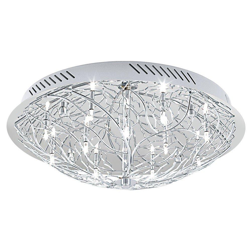 Deckenleuchte Deckenlampe Licht G9 Stahl chrom Wand warmweiß Wohnzimmer Eglo 90148   Überprüfung und weitere Informationen