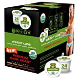 SOLLO Dark Roast Coffee Pods Compatible With 2.0 K-Cup Keurig Brewers, Weight Loss Control, Suppresses Appetite, Slimming COFFEE, Strong Antioxidant, Organic by USDA, 24 Count