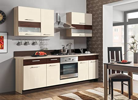 Brand New Complete 7 Units Kitchen Set Mode 240 IV With Worktop Cabinets Wall Units