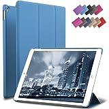 iPad Pro 9.7 Case, ROARTZ Blue Slim Fit Smart Rubber Coated Folio Case Hard Shell Cover Light-Weight Auto Wake/Sleep For Apple iPad Pro 9.7-inch Model A1673/A1674/A1675 Retina (Color: Blue, Tamaño: 9.7 Inch)