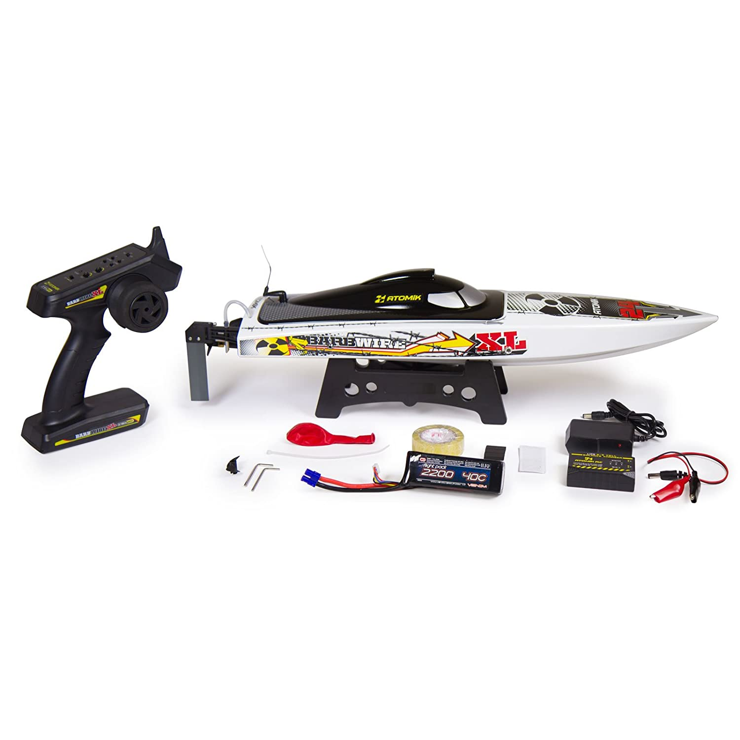 "Atomik Barbwire XL 24"" RTR Brushless RC Race Boat - Self Righting V Hull Design"