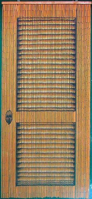 Bamboo Beaded Curtain 125 Strands 4000 Beads (+hanging hardware) (Louver Door) - Furniture