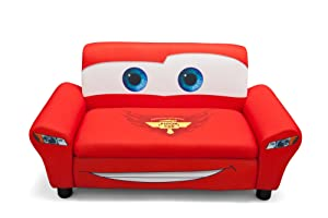 Disney Cars Upholstered Storage Sofa       Customer review and more information