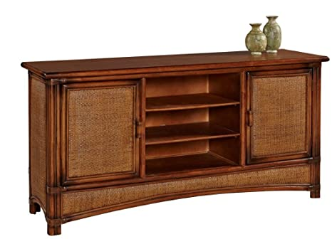 Pacifica Plasma TV Stand all natural Rattan and Wicker