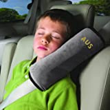 SSAWcasa Seatbelt Pillow,Car Seat Belt Covers for Kids,Adjust Vehicle Shoulder Pads,Safety Belt Protector Cushion,Plush Soft Auto Seat Belt Strap Cover Headrest Neck Support for Children Baby (Gray)