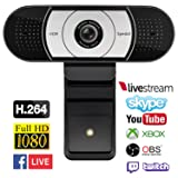 Spedal Streaming 1080P Webcam, Gaming Live USB Camera Compatible with Xbox One OBS Mixer Xsplit, HDR and Autofocus Tech with Dual Noise Reduction Mics Laptop Computer Camera for Youtube Skype Facetime (Color: streaming webcam, Tamaño: webcamS931)