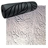 Drywall Texture Pattern Roller for Decorative Paint Texturing (Palm Leaf Pattern)
