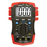 Triplett Compact True RMS CAT III 1999 Count Digital Multimeter - AC/DC Voltage, AC/DC Current, Resistance, Frequency, Capacitance, Temperature, Continuity, and Diode Check (1401) (Color: Red)