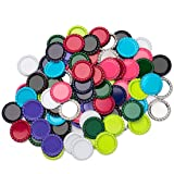 IGOGO 100 Pcs Mixed Colors Bottle Caps Craft Bottle Stickers for Hair Bows Pendants Scrapbooks 1 Inch (10colors x 10pcs)) (Color: Mixed Colors 100pcs (10colors x 10pcs))