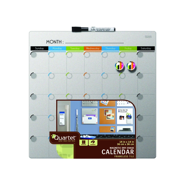 Dry Erase Calendar Magnetic : Quartet magnetic dry erase calendar tile inches