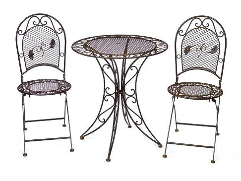 Tavolo da giardino + 2x sedia di ferro in stile mobili antichi mobili da