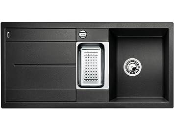 blanco metra 6 s f anthrazit granit sp lbecken fl chenb ndig k che sp le grau dee281. Black Bedroom Furniture Sets. Home Design Ideas