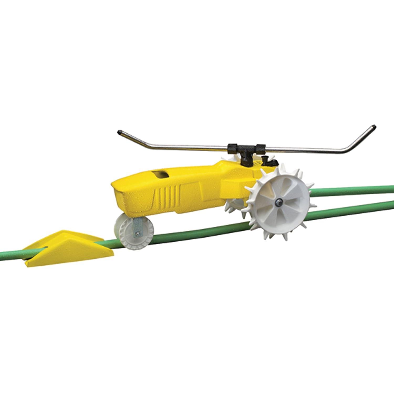 Traveling Lawn Sprinkler Tractor : Rotating traveling sprinkler automatic lawn watering yard