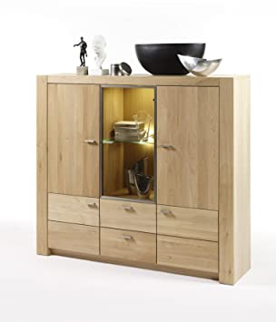 highboard eiche bianco teilmassiv dee917. Black Bedroom Furniture Sets. Home Design Ideas