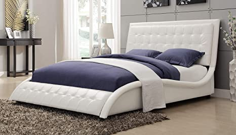 Timmothy Queen Upholstered Bed Color: White