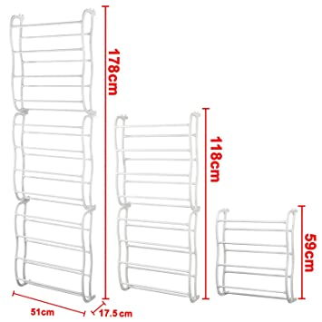 hot hot hot verkauf amos schuhregal mit haken zum aufh ngen an der t r 12 reihen f r 36 paar. Black Bedroom Furniture Sets. Home Design Ideas