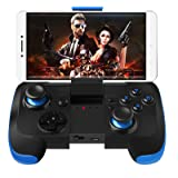 Wireless Bluetooth Game Controller for Android Phone Tablet Pad Smart TV BOX PS2 PS3 Samsung Gear VR Controller (Color: Black)