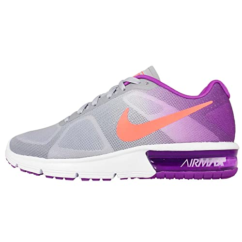 Nike Air Max Sequent Womens Running Shoes - Grey, Orange and Purple