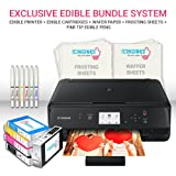 Icinginks Edible Printer Art Package - Comes With Edible Printer, Edible Cartridges, 20 Wafer Paper, 5 Frosting Sheets, Set of 6 Fine Tip Edible Markers - Best Cake Image Printer, Canon Edible Printer