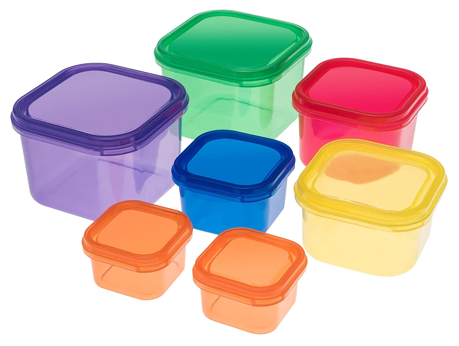 Portion Control Containers Set {7 Piece}: Color Meal Prep Food Storage Containers for Weight Loss with BONUS GUIDE | Leak Proof, Microwave & Dishwasher Safe | Similar to 21 Day Fix by Sweet Concepts