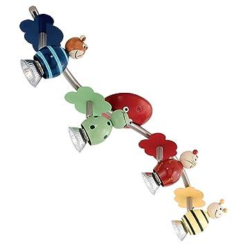 Eglo lampadario per la camera dei bambini con 4 faretti - Lampadario camera bambini ...