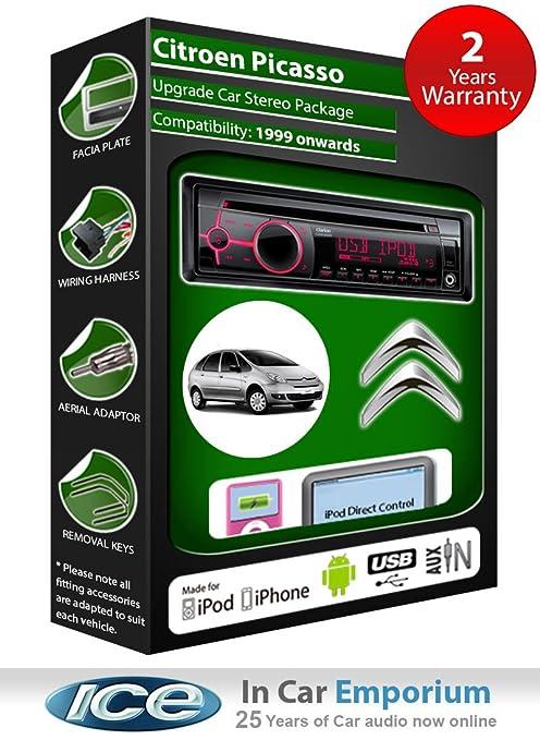 Citroën Picasso de lecteur CD et stéréo de voiture radio Clarion jeu USB pour iPod/iPhone/Android