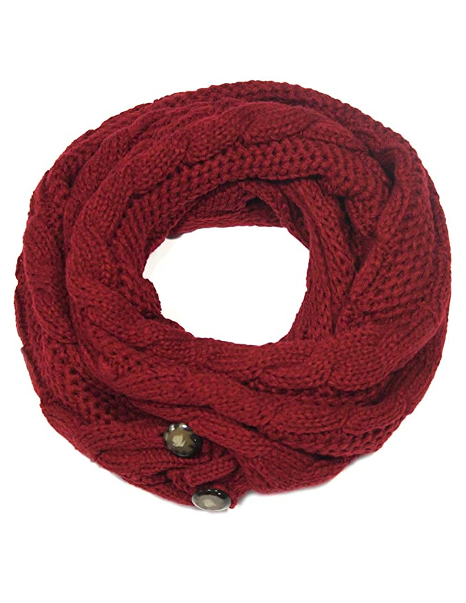 Dahlia Women S Cable Knit Infinity Scarf W Button Amazon Lightning Deal Picks Coupon Karma