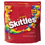 SKITTLES-Original Candy-Assorted Fruit Flavored Candy-Skittles Original Bite-Sized Candies-Resealable Pouch-1-54oz. Bag (Color: Rainbow, Tamaño: 54 ounce bag)