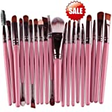 15 pcs Sets Eye Shadow Foundation Eyebrow Lip Brush Makeup Brushes Tool (Pink) (Black) (A-Pink) (Color: Pink)